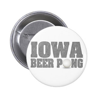 Iowa Beer Pong 6 Cm Round Badge