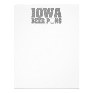 Iowa Beer Pong Flyer Design