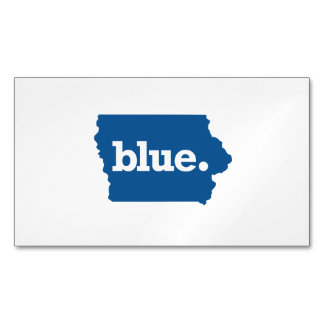 IOWA BLUE STATE MAGNETIC BUSINESS CARDS