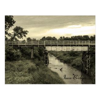 Iowa Bridge near Mineola, Iowa Postcard