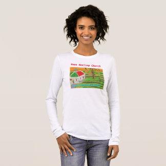 Iowa Christian Farm Church Scene Long T-Shirt