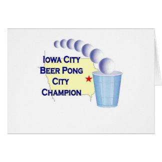 Iowa City Beer Pong Champion Card