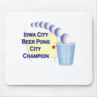 Iowa City Beer Pong Champion Mousepad