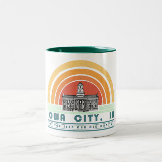 Iowa City - Have You Seen Our Old Cap? (grn txt) Two-Tone Mug