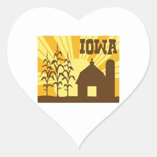 Iowa Corn Farm Heart Sticker