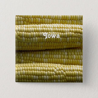 Iowa Corn on the Cob 15 Cm Square Badge