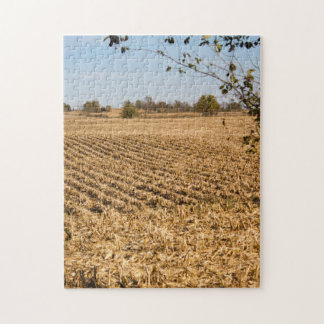 Iowa Cornfield Panorama Photo Jigsaw Puzzle