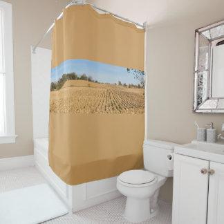 Iowa Cornfield Panorama Photo Shower Curtain