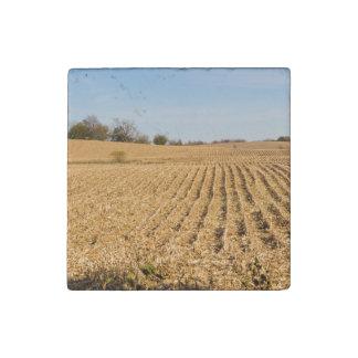 Iowa Cornfield Panorama Photo Stone Magnet