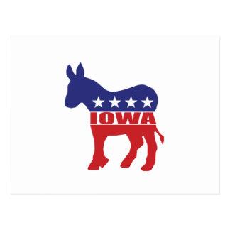 Iowa Democrat Donkey Postcard