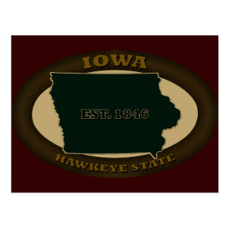 Iowa Est. 1846 Postcard