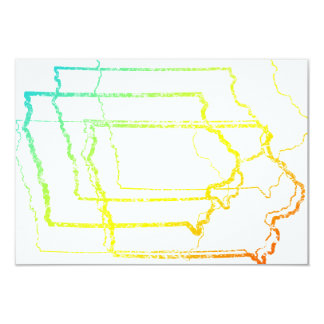 iowa fade blur 9 cm x 13 cm invitation card