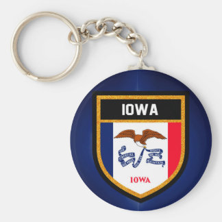 Iowa Flag Key Ring