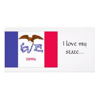 Iowa Flag Photo Card