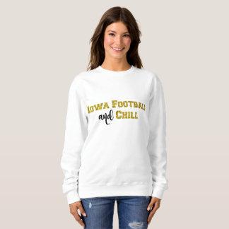Iowa Football and Chill | Gold Glitter Top