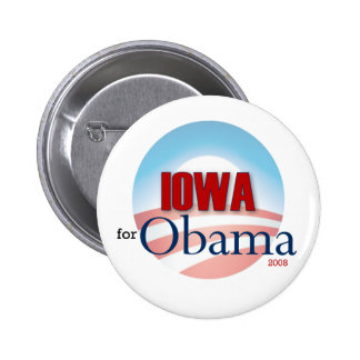 Iowa for Obama Pinback Buttons