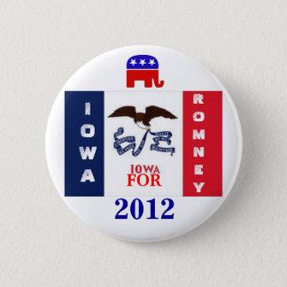 Iowa  for Romney 2012 6 Cm Round Badge