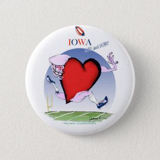 iowa head heart, tony fernandes 6 cm round badge