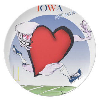 iowa head heart, tony fernandes plate