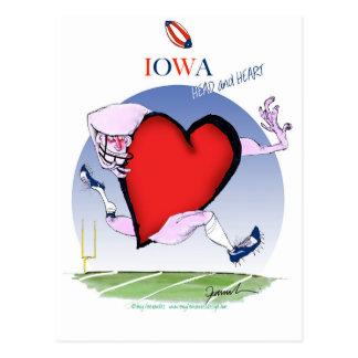 iowa head heart, tony fernandes postcard