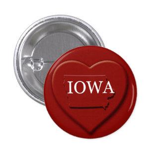 Iowa Heart Map Design Button