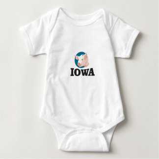 iowa hogs baby bodysuit