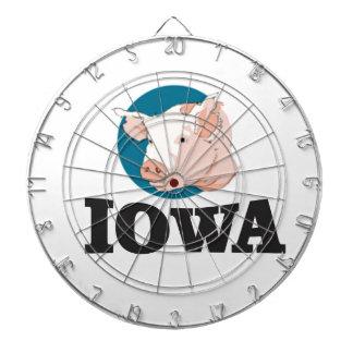 iowa hogs dartboard