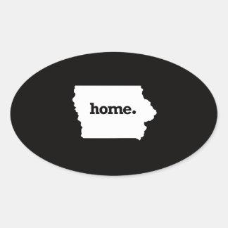 Iowa Home Oval Sticker