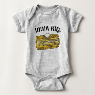 IOWA KID Yellow Buttered Corn on the Cob Baby Bodysuit
