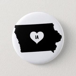 Iowa Love 6 Cm Round Badge
