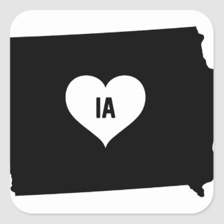 Iowa Love Square Sticker