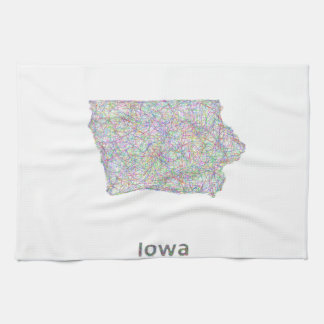 Iowa map tea towel
