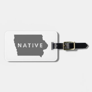Iowa Native Luggage Tag
