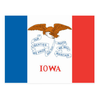 Iowa  Official State Flag Postcard