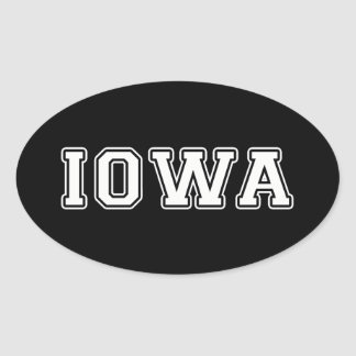 Iowa Oval Sticker