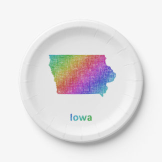 Iowa Paper Plate