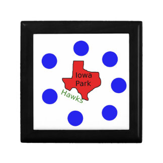 Iowa Park, Texas Design (Hawks Text Included) Gift Box
