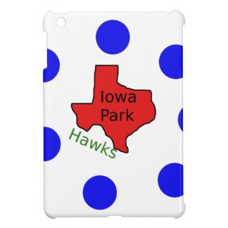 Iowa Park, Texas Design (Hawks Text Included) iPad Mini Cover