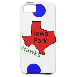 Iowa Park, Texas Design (Hawks Text Included) iPhone 5 Case