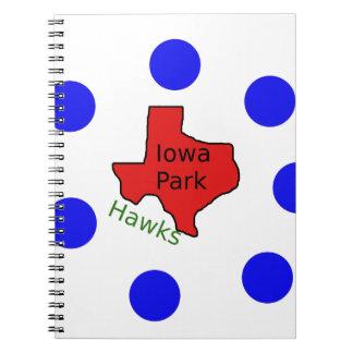 Iowa Park, Texas Design (Hawks Text Included) Notebooks