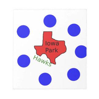 Iowa Park, Texas Design (Hawks Text Included) Notepad