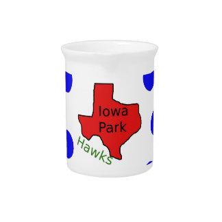 Iowa Park, Texas Design (Hawks Text Included) Pitcher