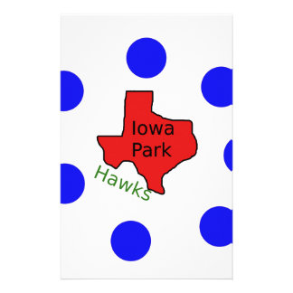 Iowa Park, Texas Design (Hawks Text Included) Stationery
