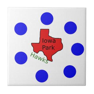 Iowa Park, Texas Design (Hawks Text Included) Tile