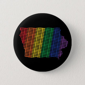 Iowa Rainbow State 6 Cm Round Badge