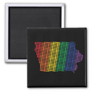 Iowa Rainbow State Magnet