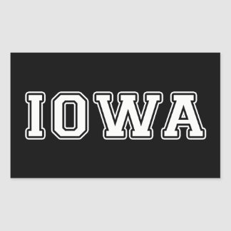 Iowa Rectangular Sticker