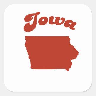 IOWA Red State Square Sticker
