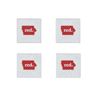 IOWA RED STATE STONE MAGNET