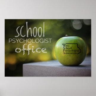 Iowa School Psychologist Office Poster